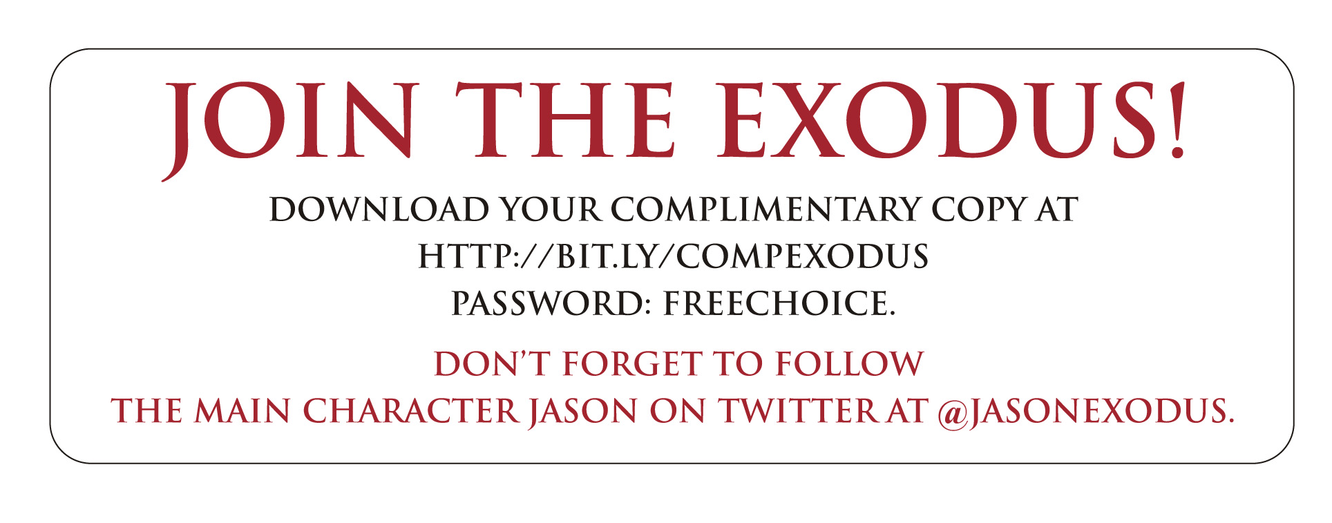 Join the Exodus!