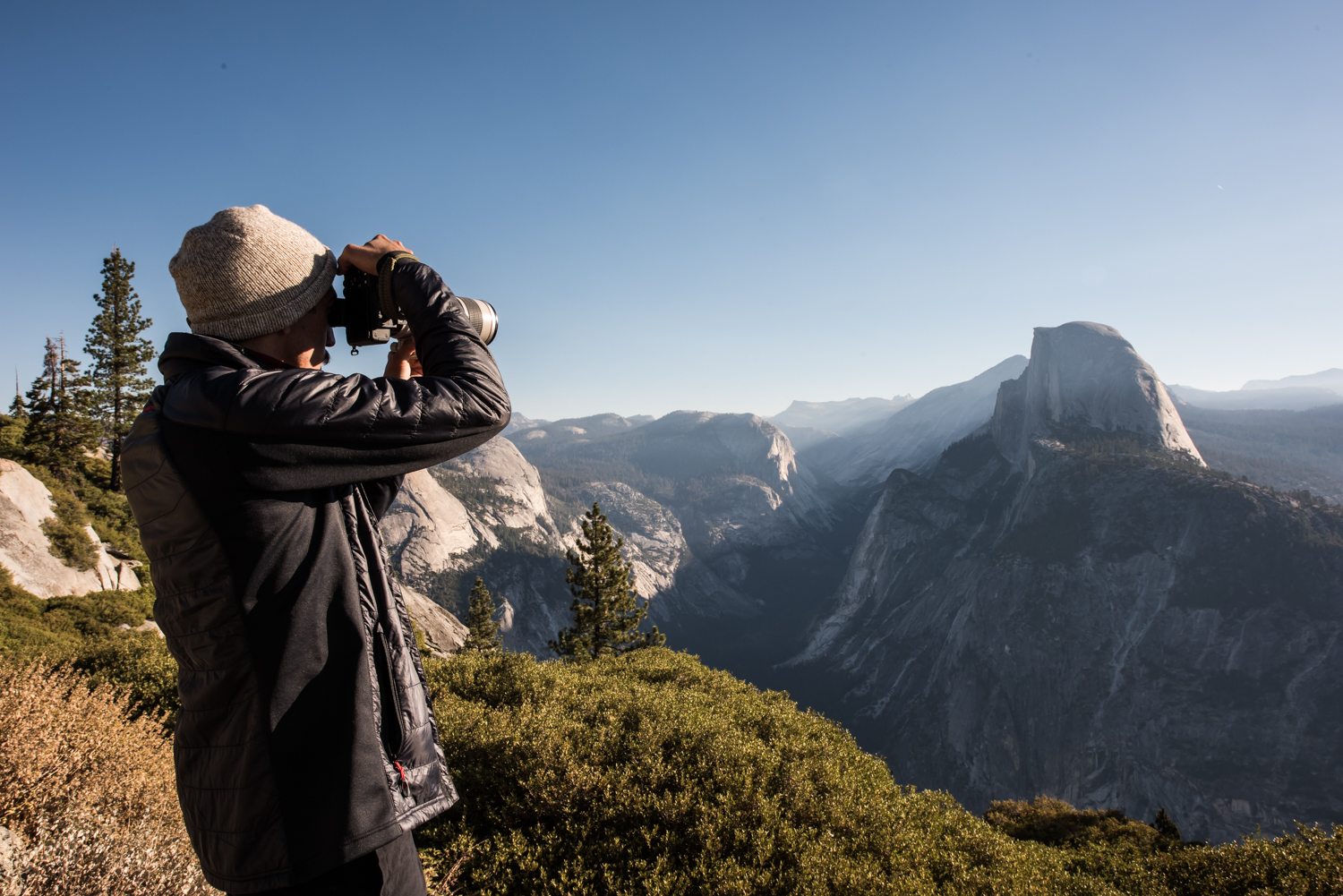 photographing-half-dome